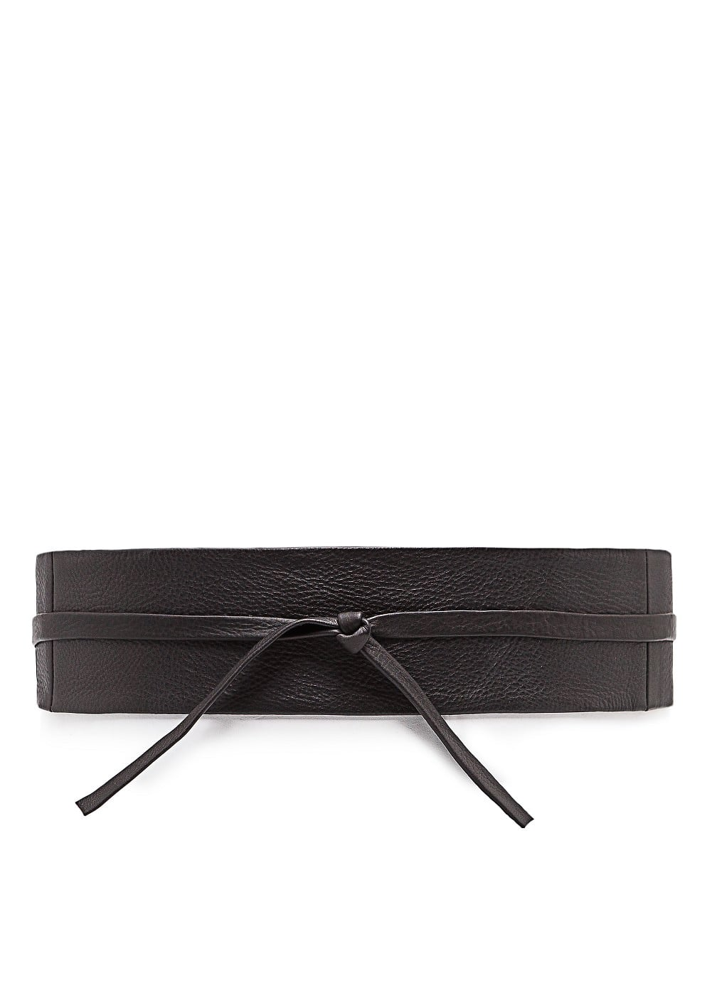 Leather sash belt | MANGO
