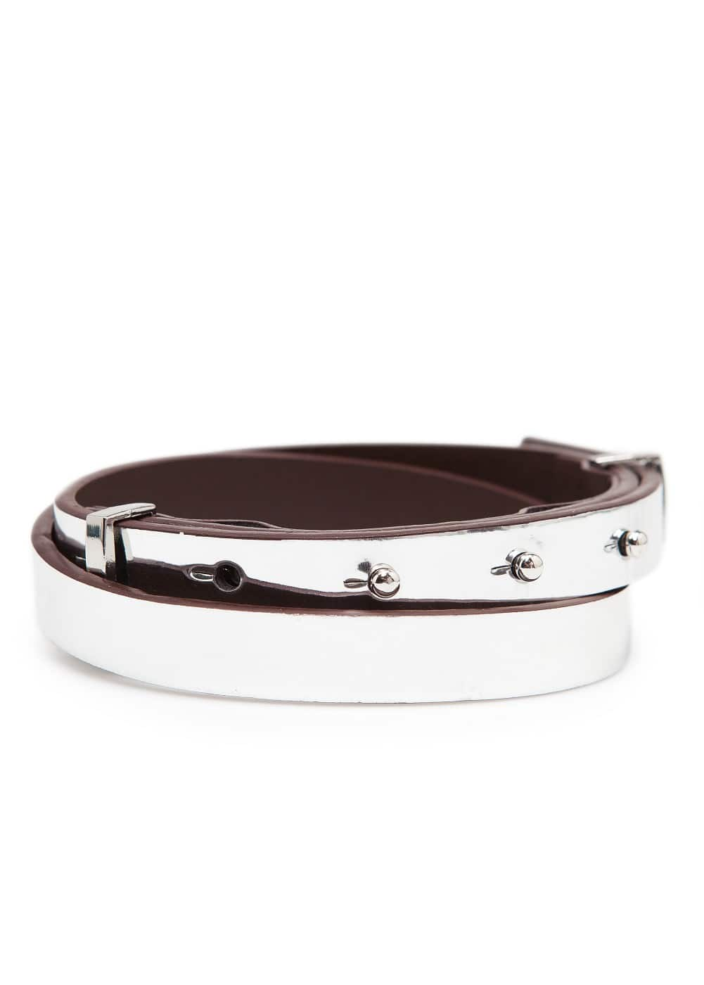 Metallic slim belt | MANGO