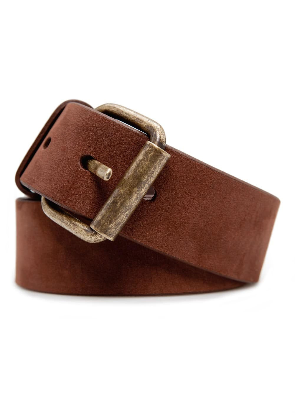 Suede belt | MANGO MAN
