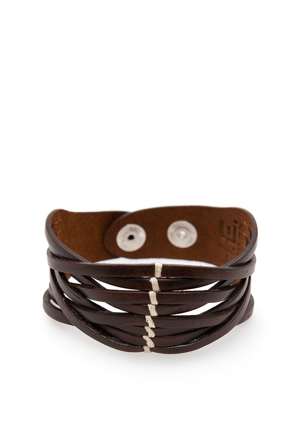 Leather straps bracelet | MANGO MAN