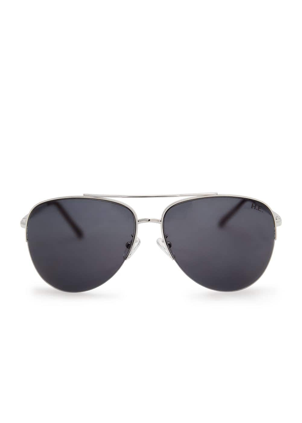 Metallic frame aviator sunglasses | MANGO MAN