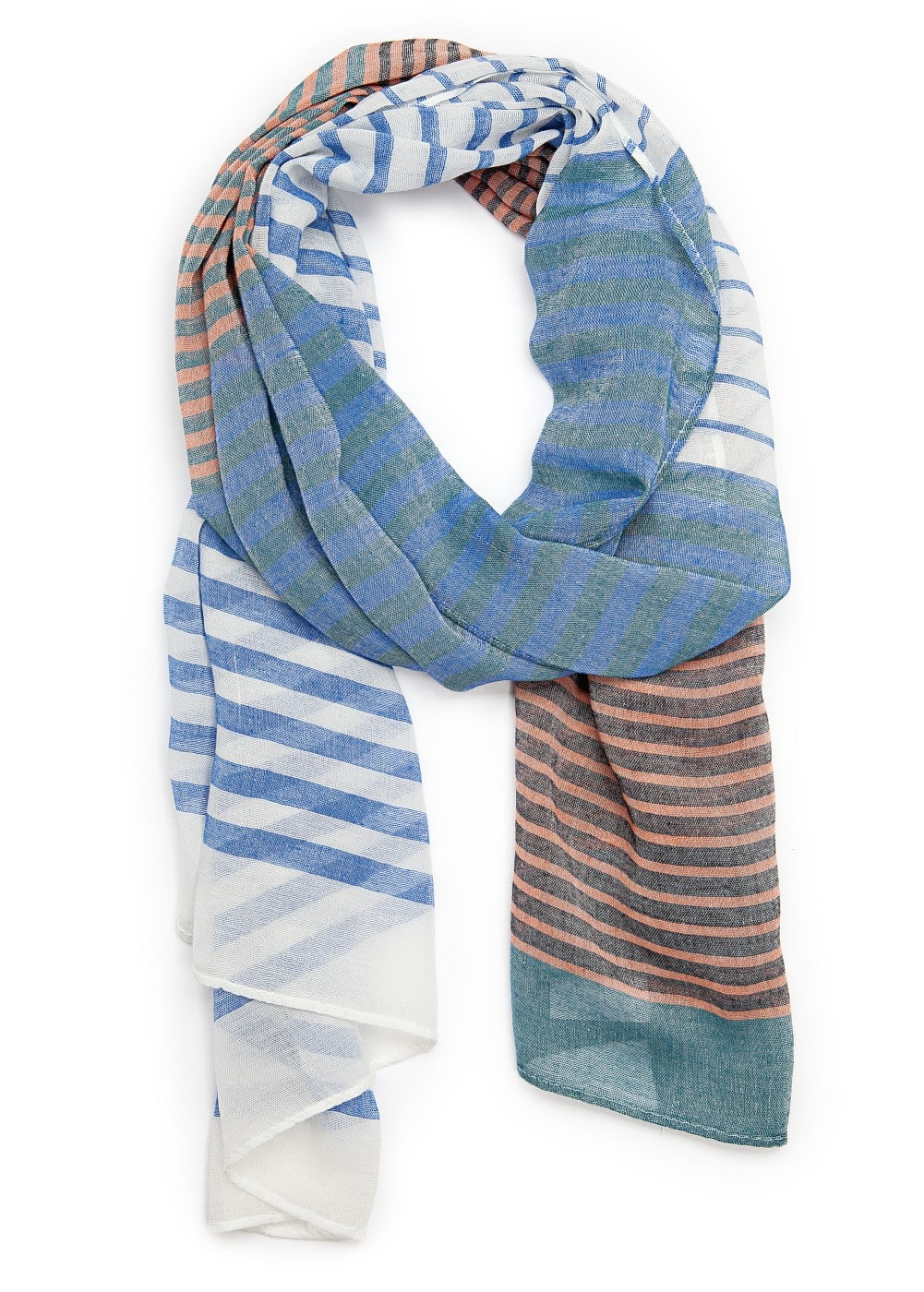 Striped foulard | MANGO MAN