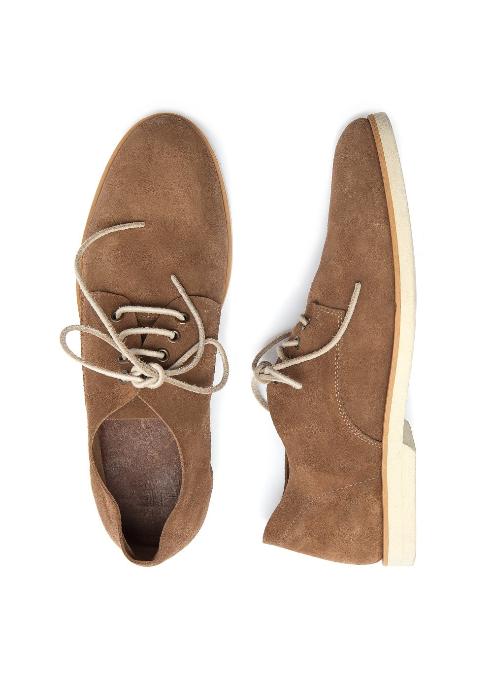 Suede derby shoes | MANGO MAN