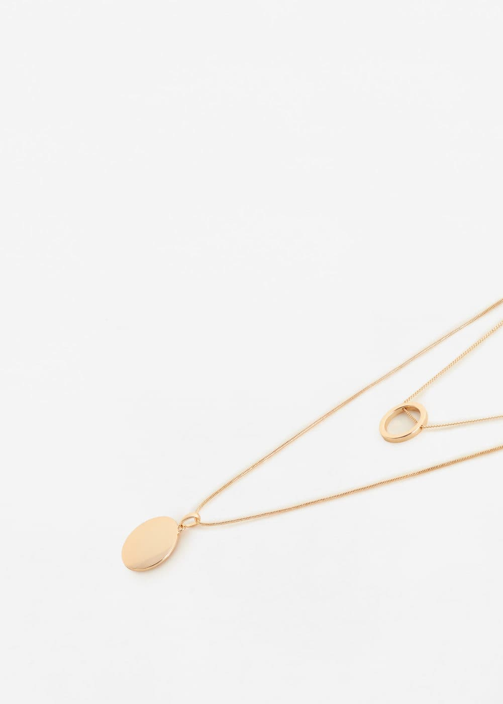 Chain waterfall necklace | MANGO