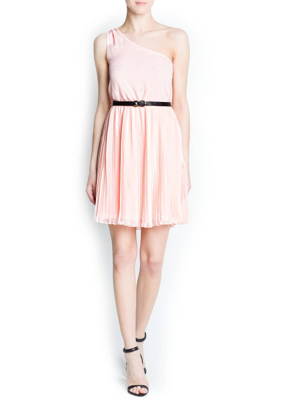 Chiffon asymmetric dress | MANGO