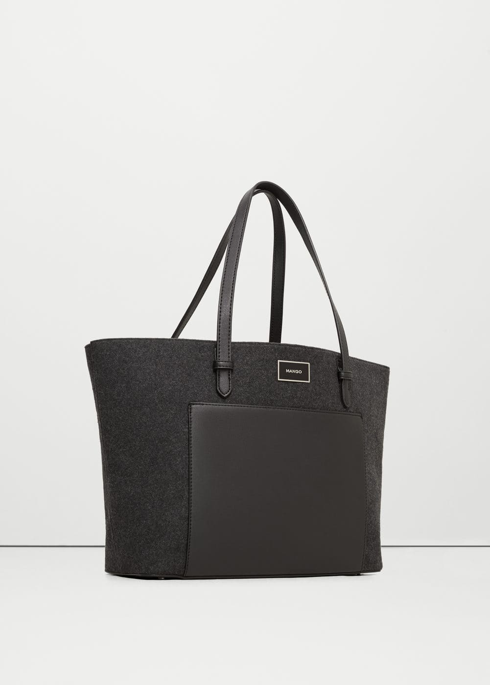 Wool-blend shopper bag | MANGO