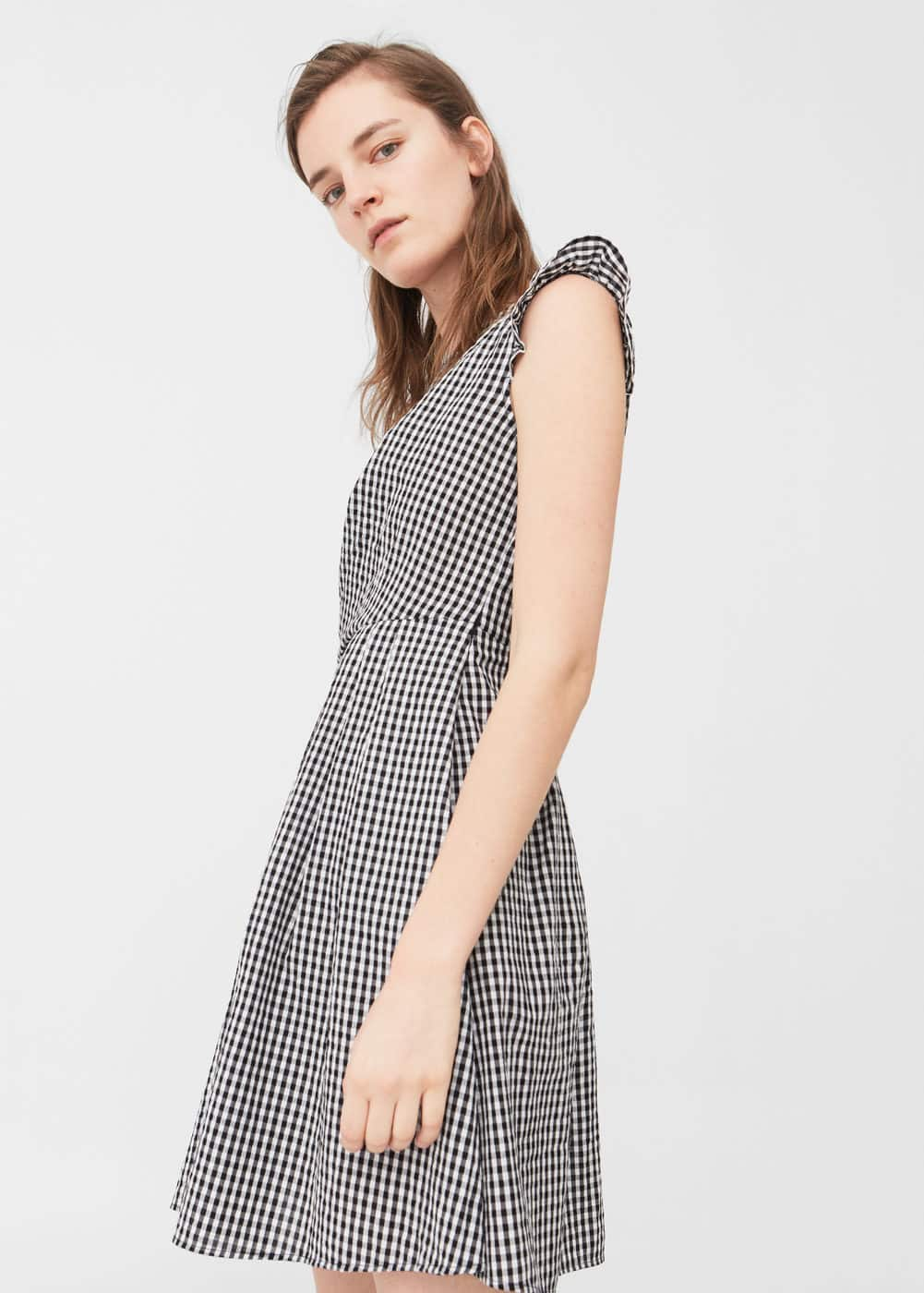 Gingham check dress | MANGO