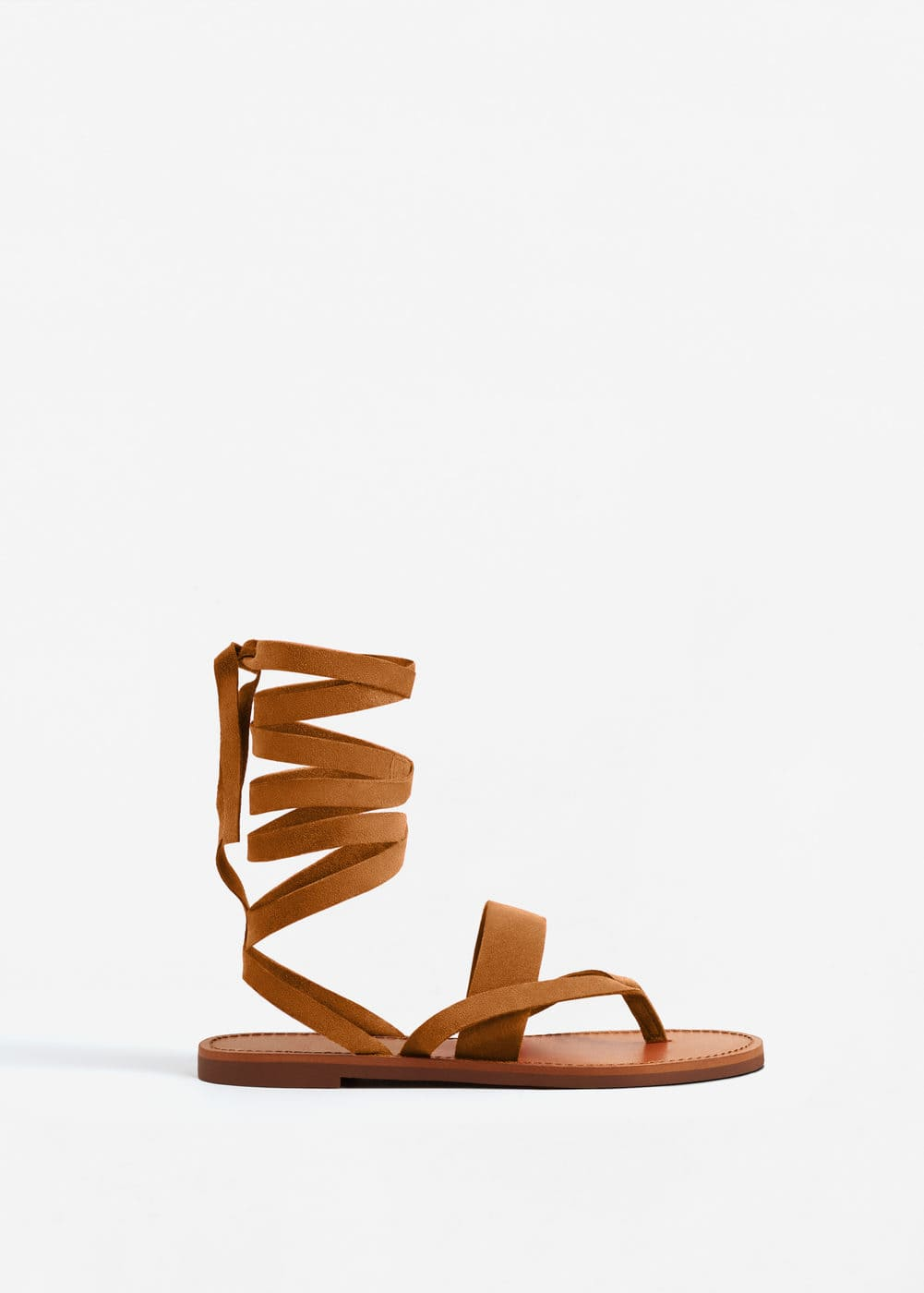 Leather gladiator sandals | MANGO