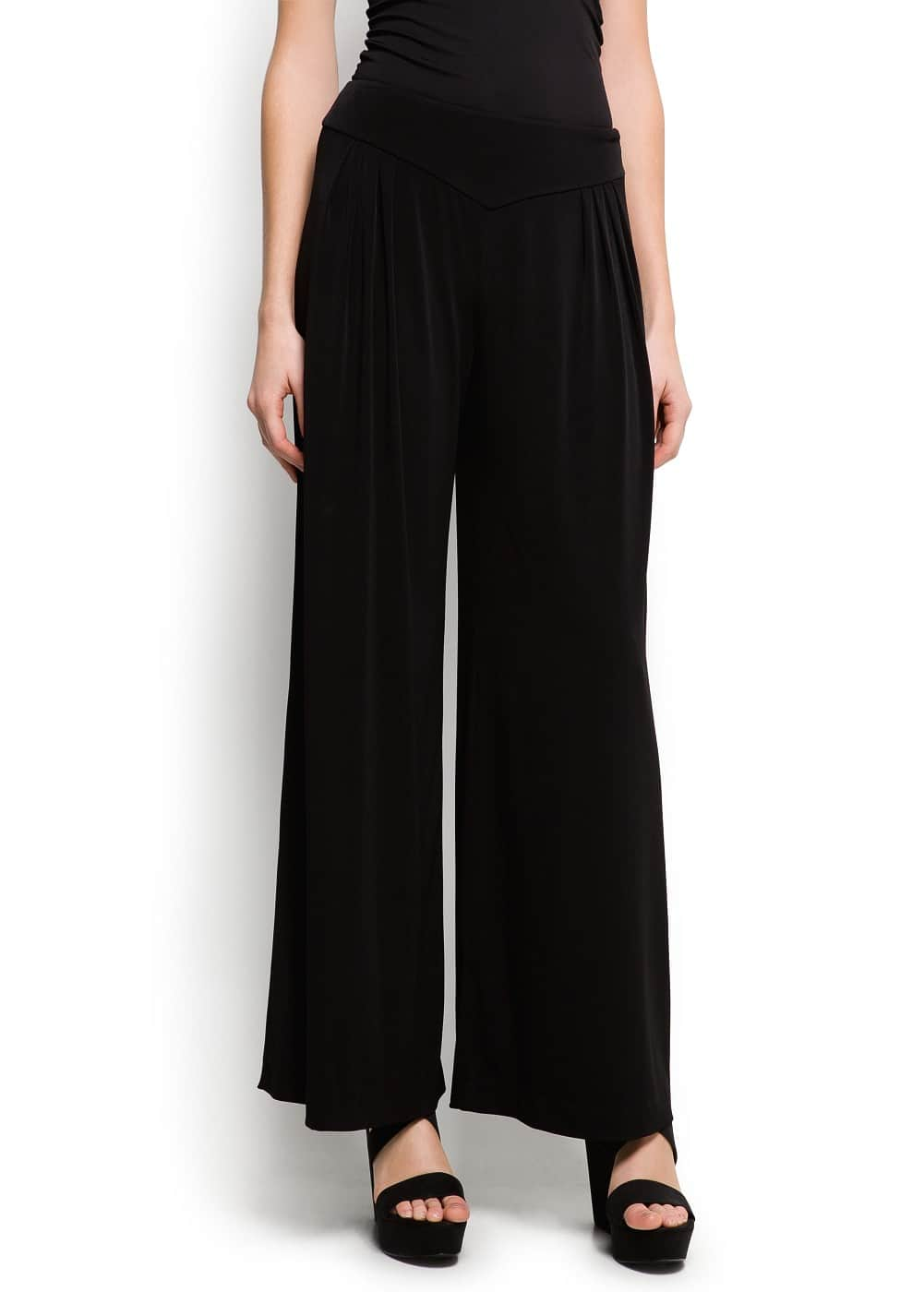 Pleats wide trousers | MANGO