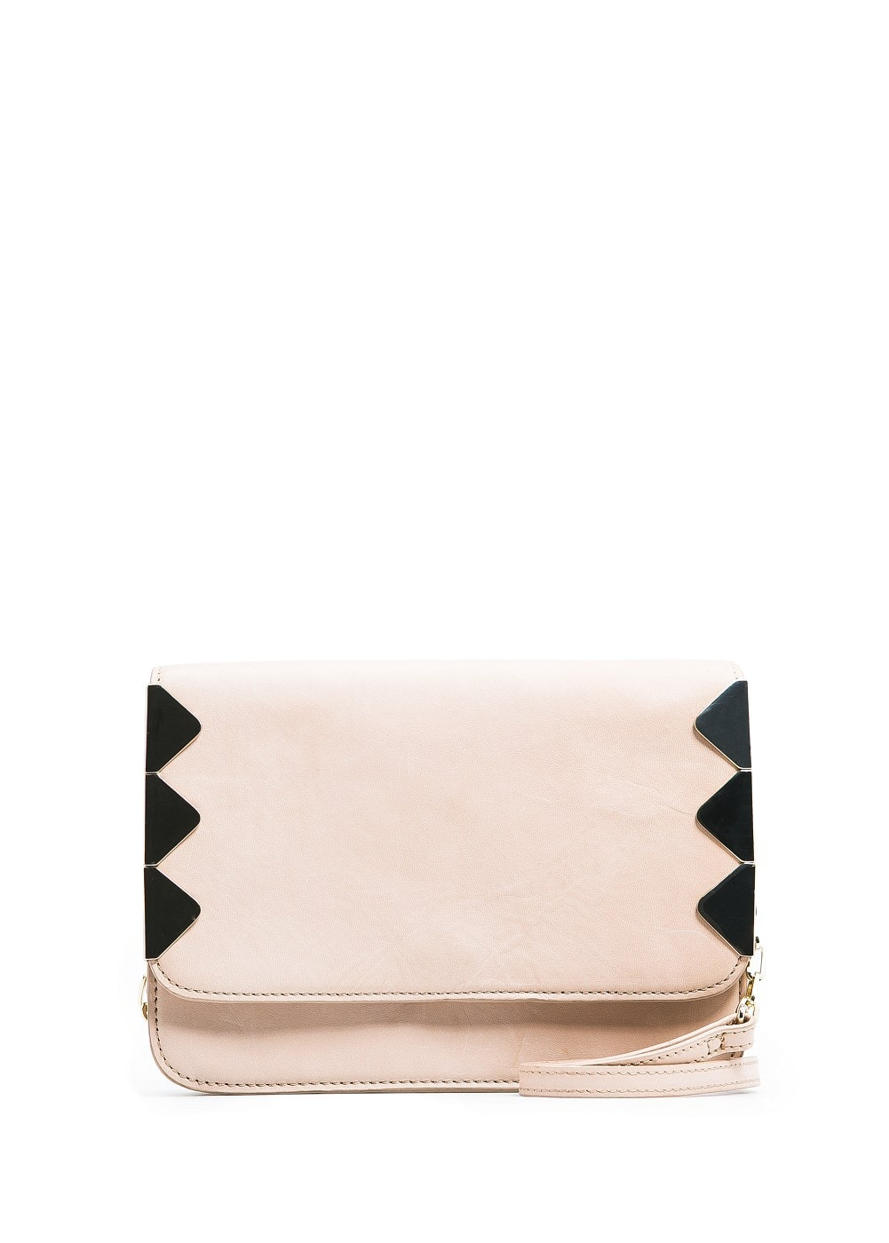 Metal detailing shoulder bag | MANGO