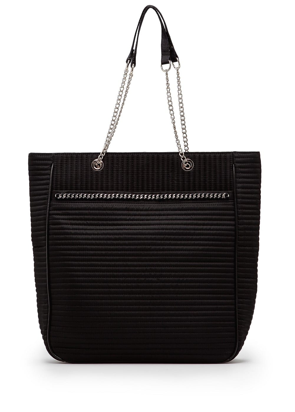 Quilted chain shopper bag | MANGO