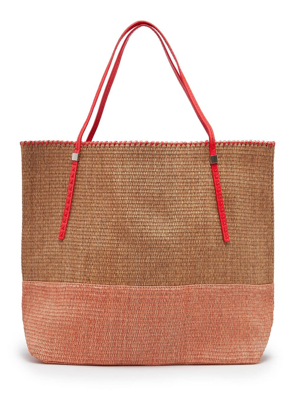 4a01c226ada Two-tone straw tote bag