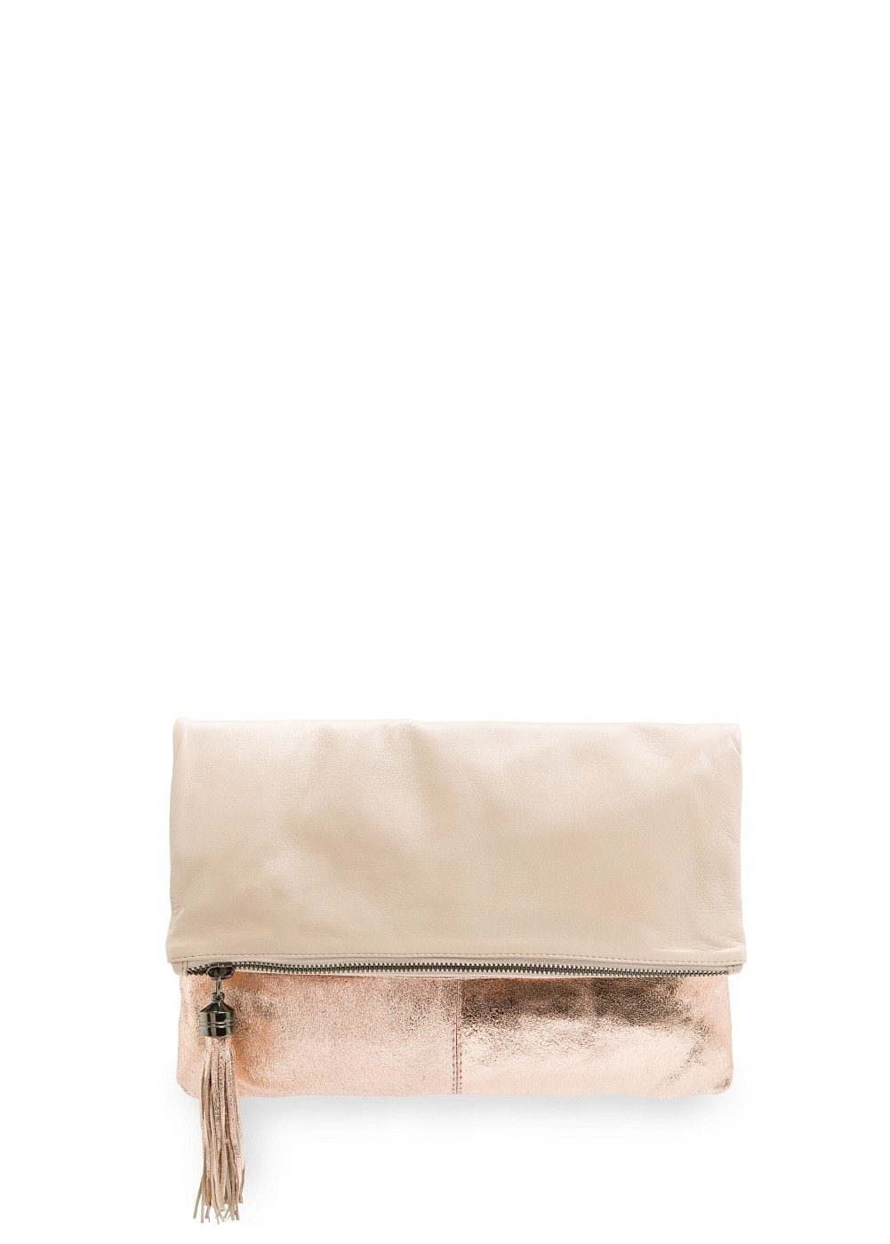 Leather combi clutch | MANGO