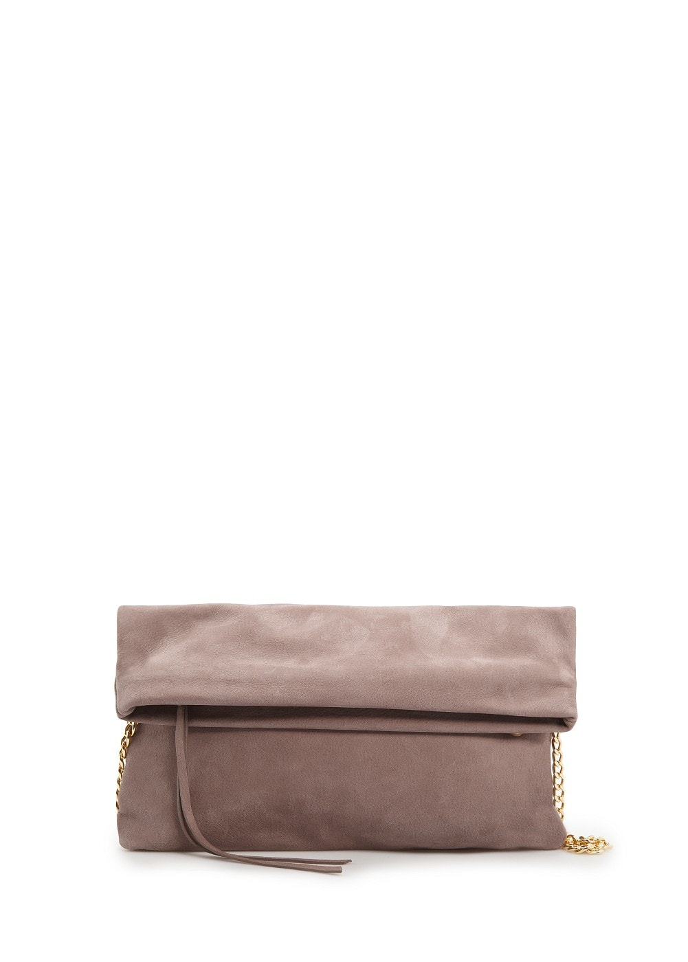 Leather folded clutch | MANGO