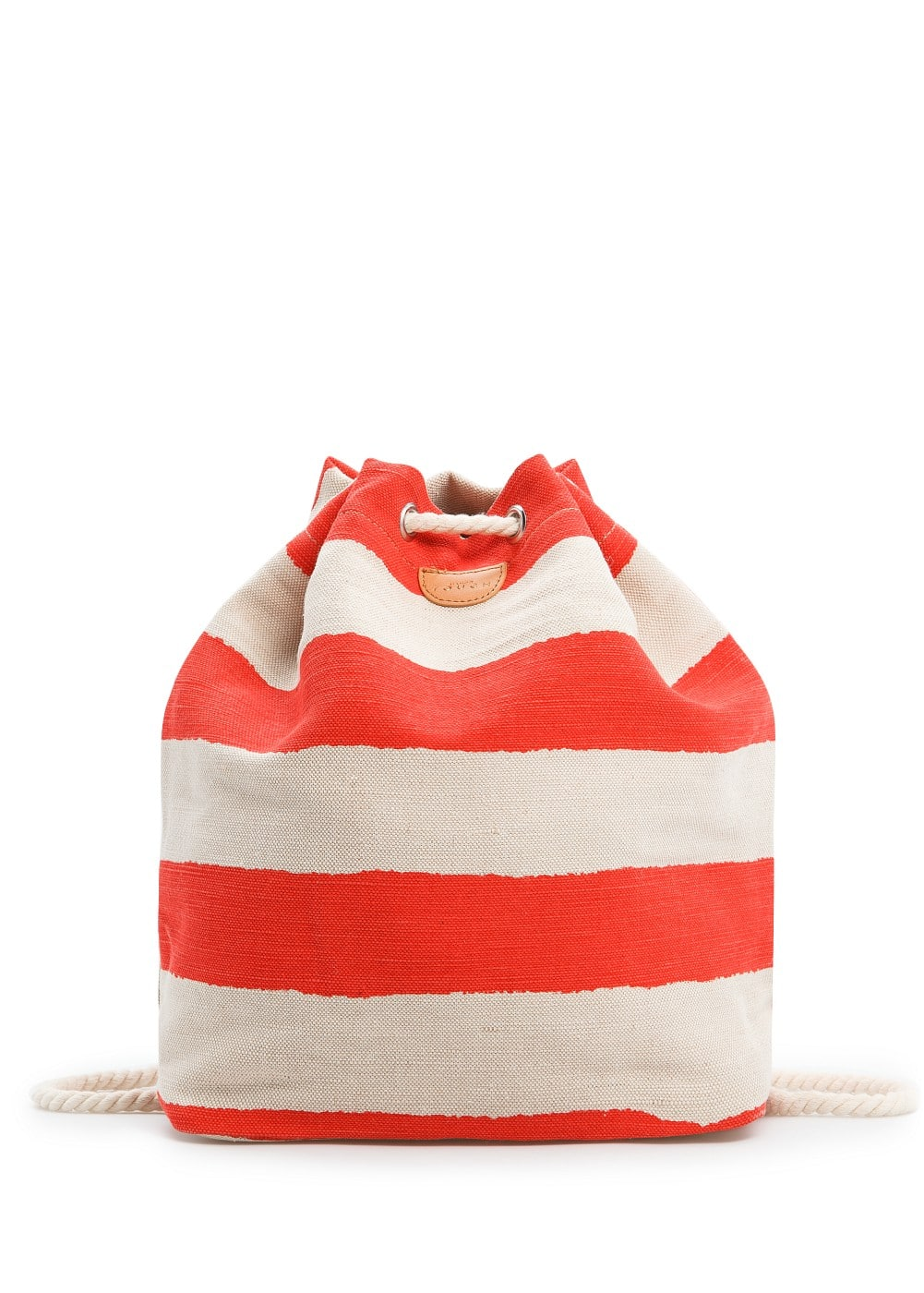 Canvas striped backpack | MANGO