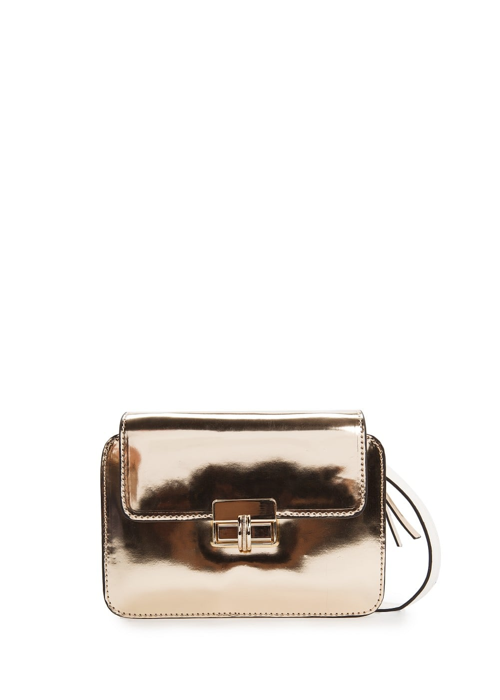 Metallic small shoulder bag | MANGO