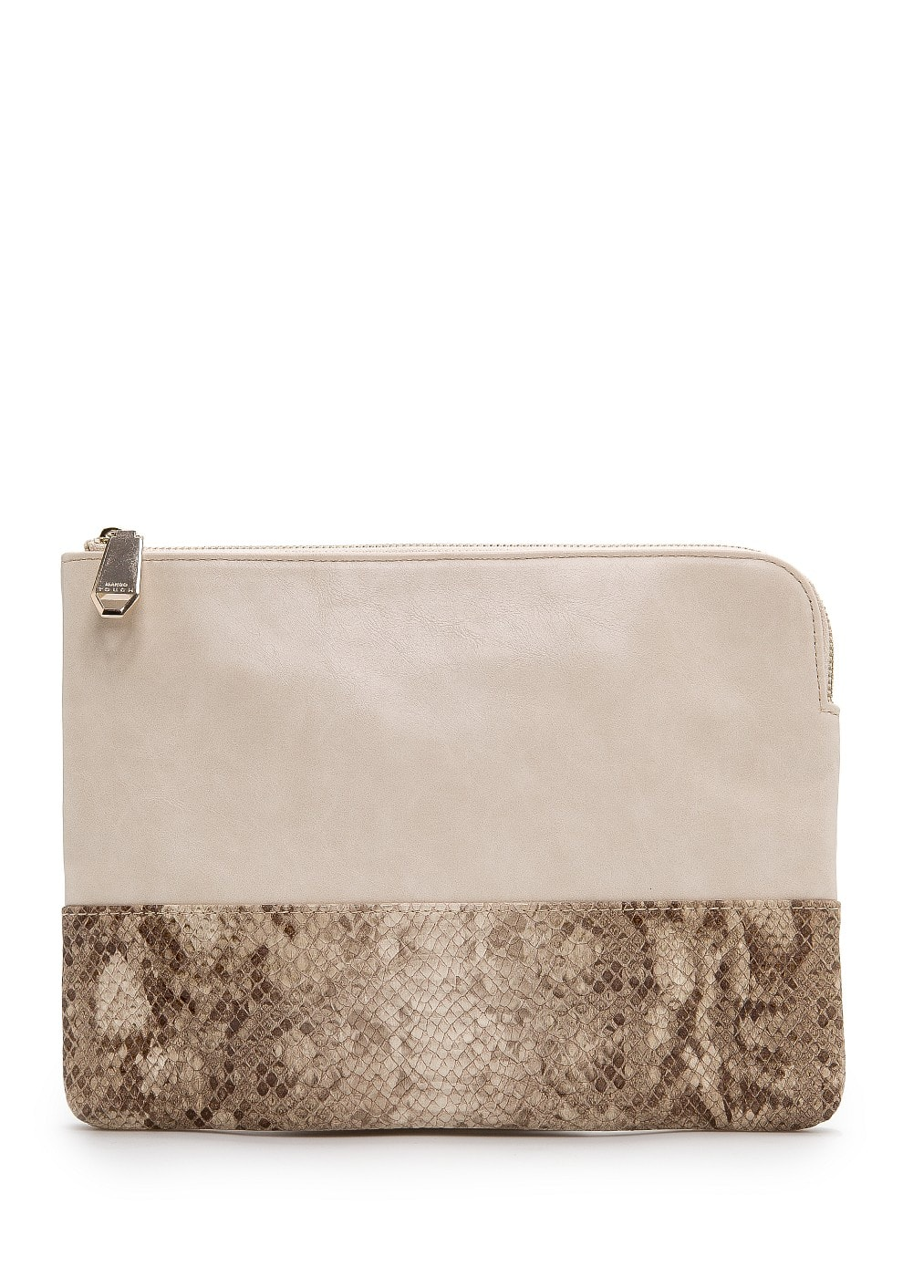 Snake skin panel ipad case | MANGO
