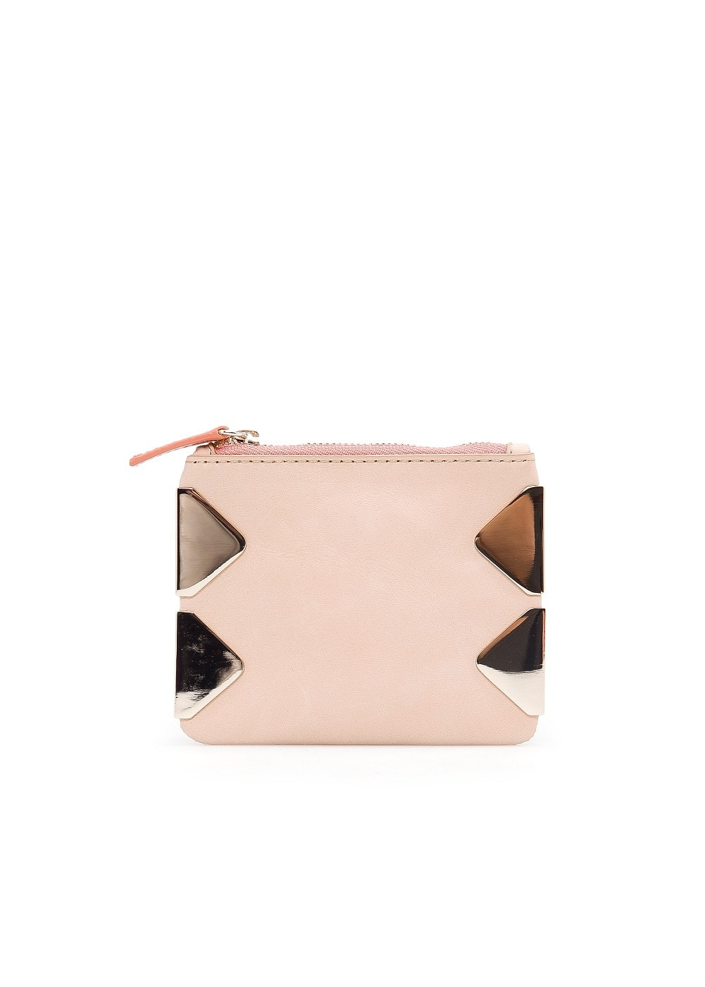 Appliqué leather coin purse | MANGO