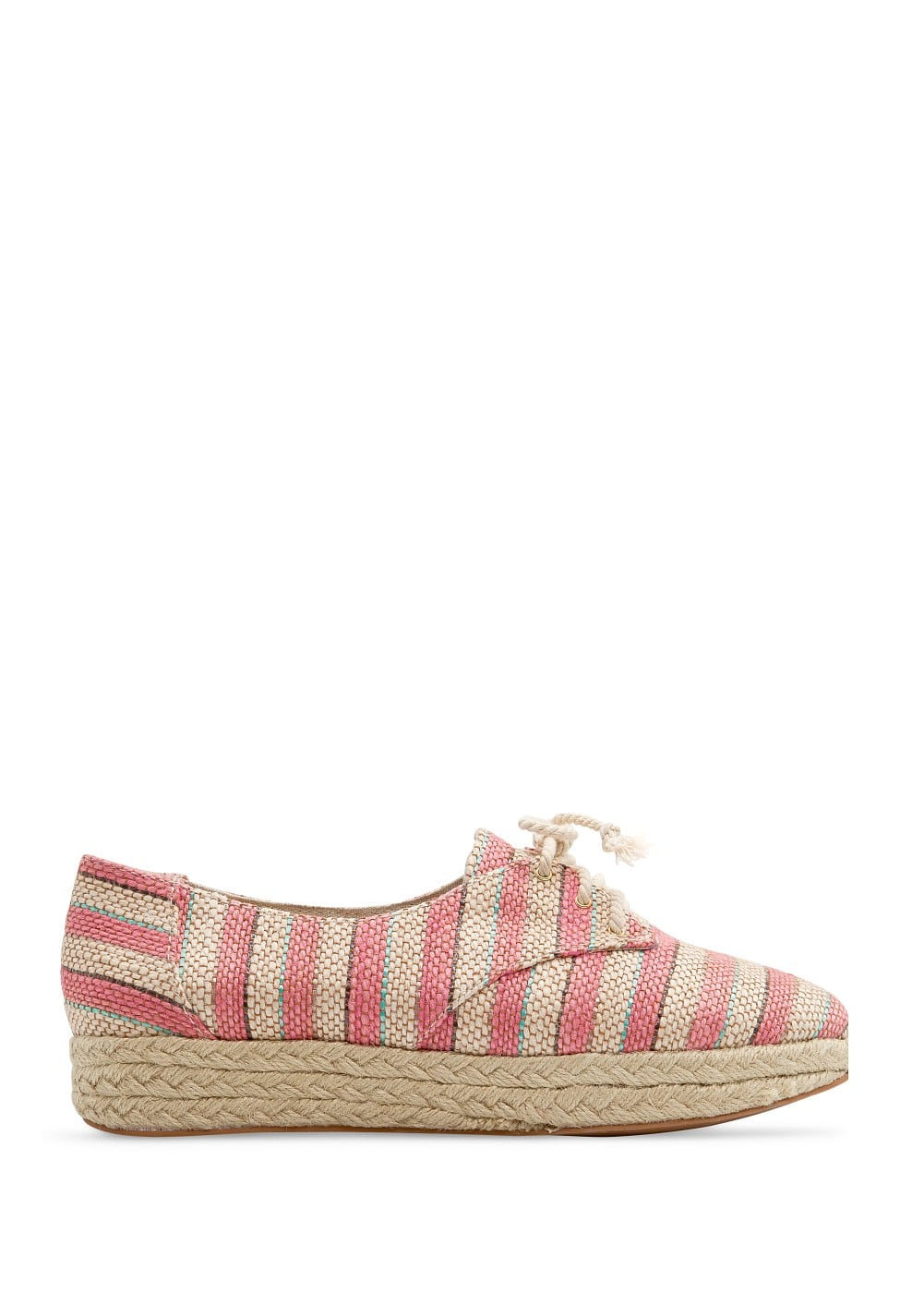 Striped espadrille shoes | MANGO