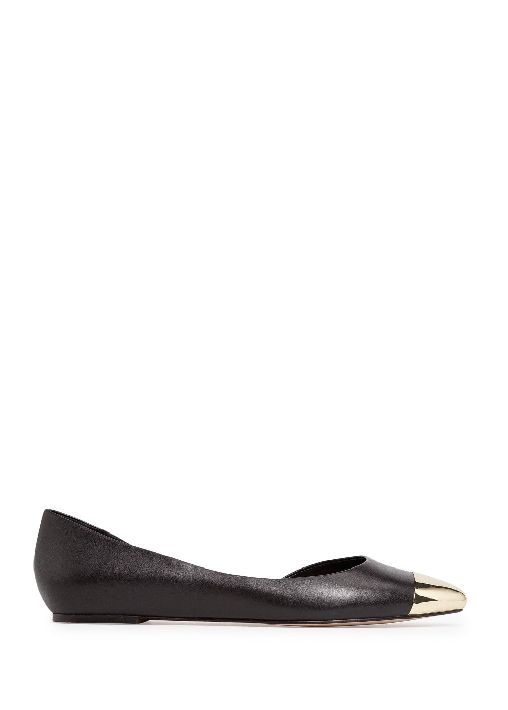 Metal cap toe flat shoes | MANGO