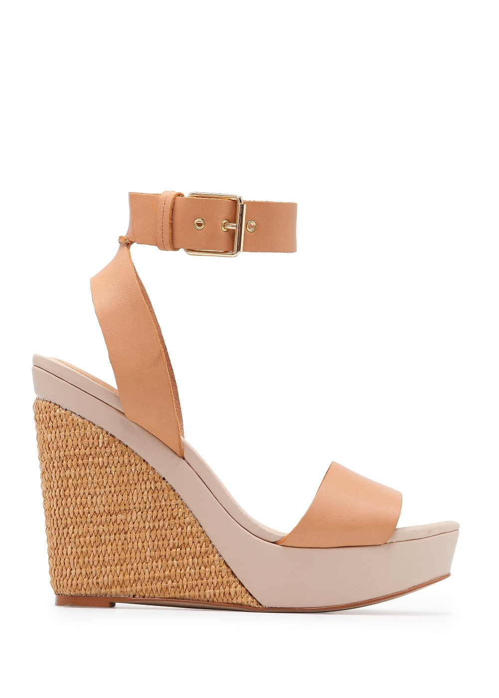 Woven wedge sandals | MANGO