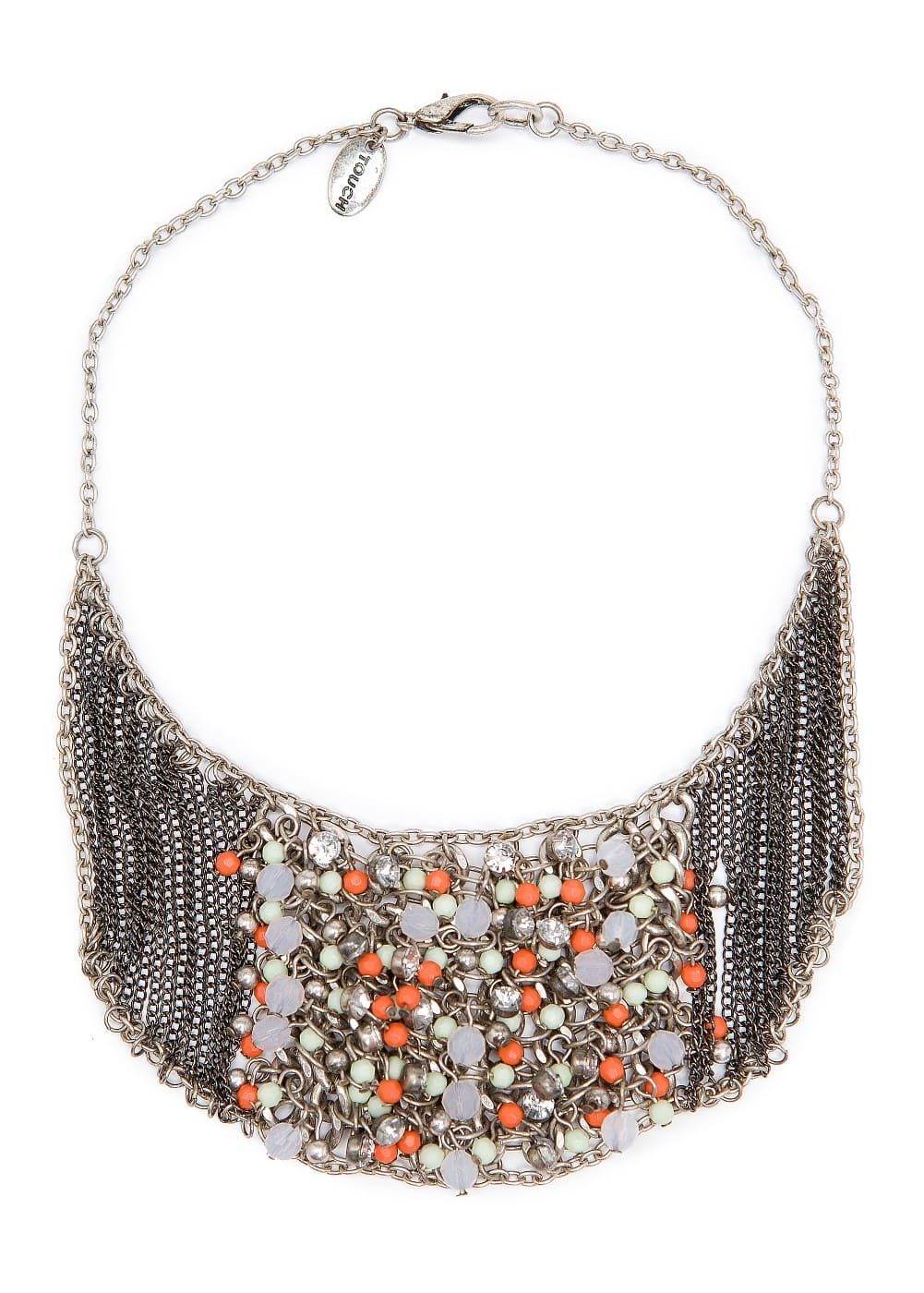 Chains and beads necklace | MANGO