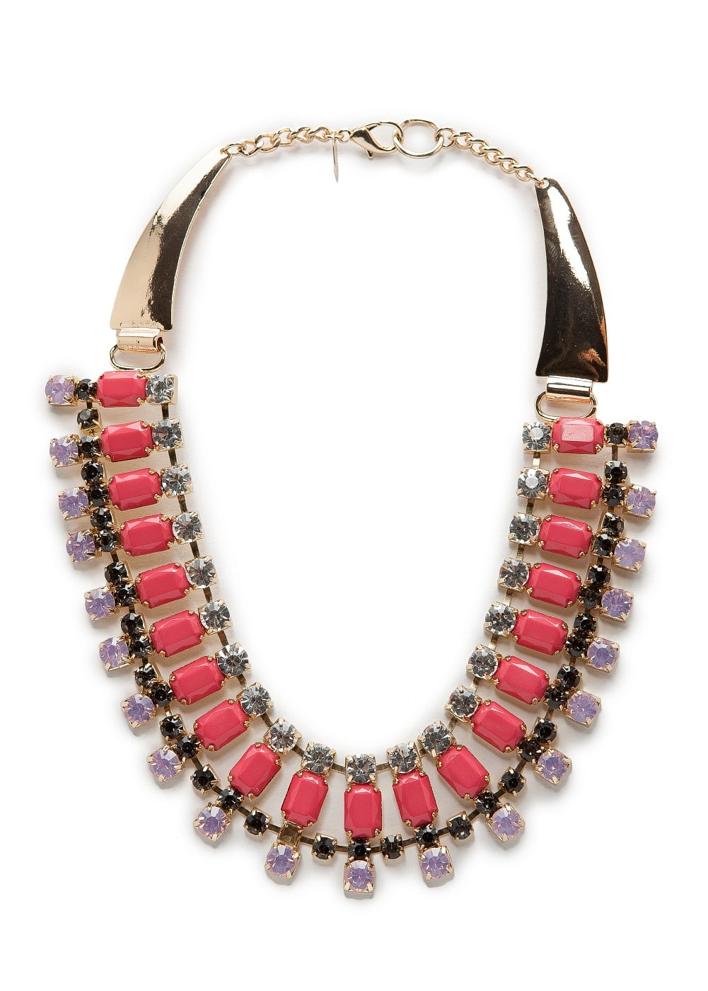 Crystal embellished necklace | MANGO