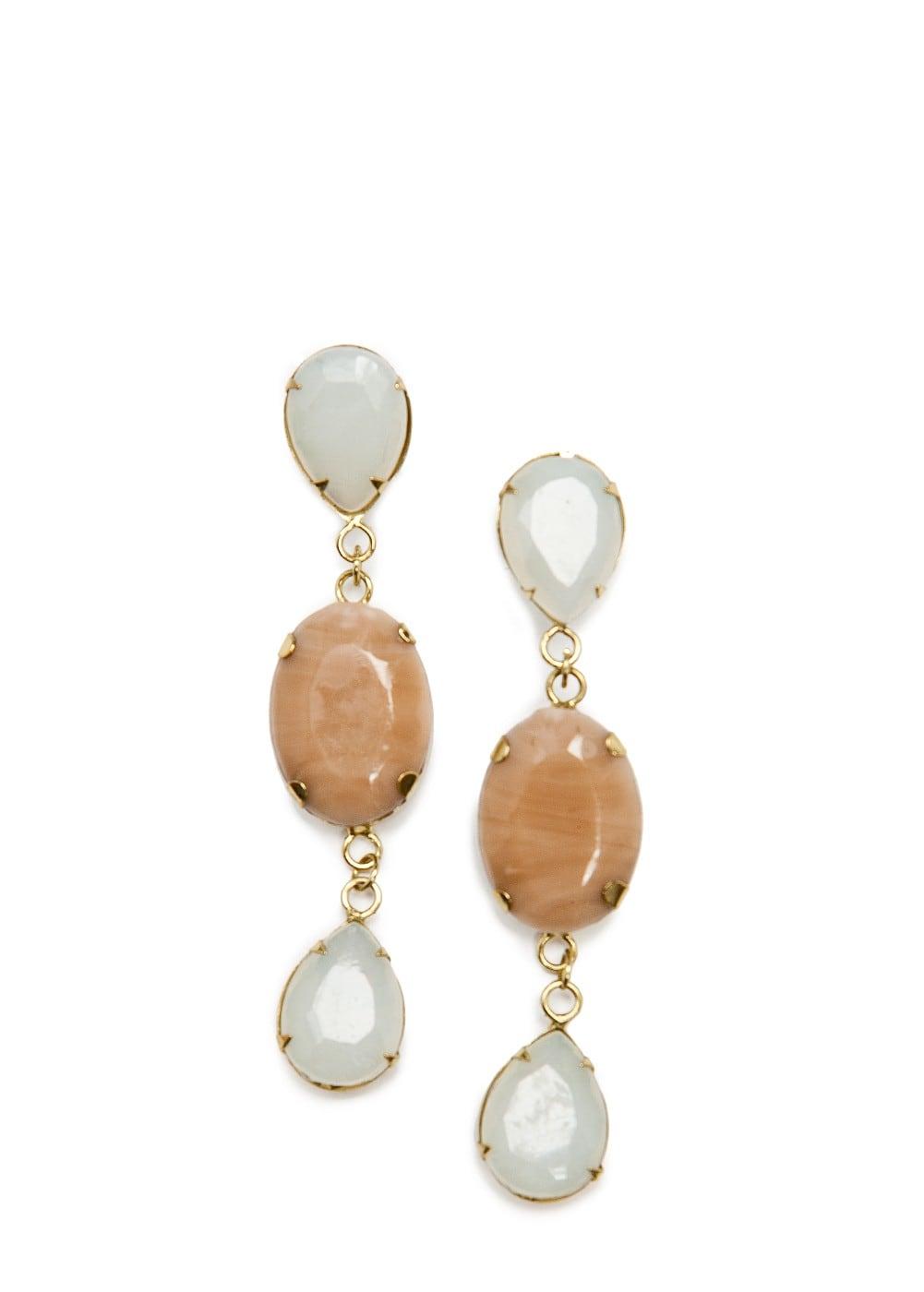 Stones long earrings | MANGO