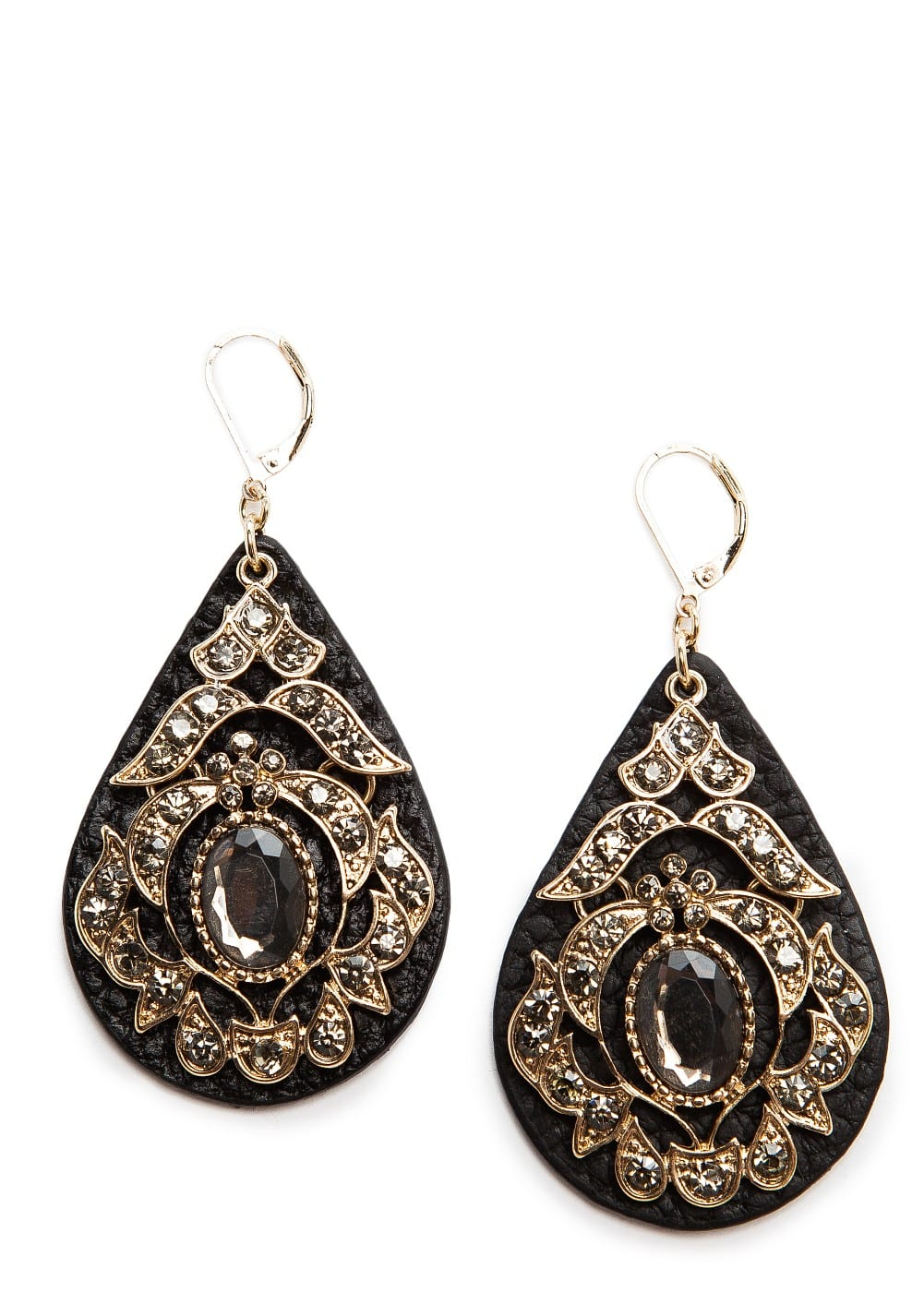 Crystals teardrop earrings | MANGO