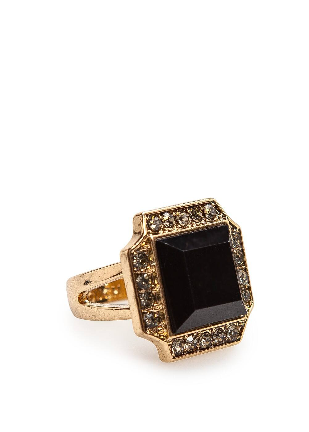 Square stone ring | MANGO