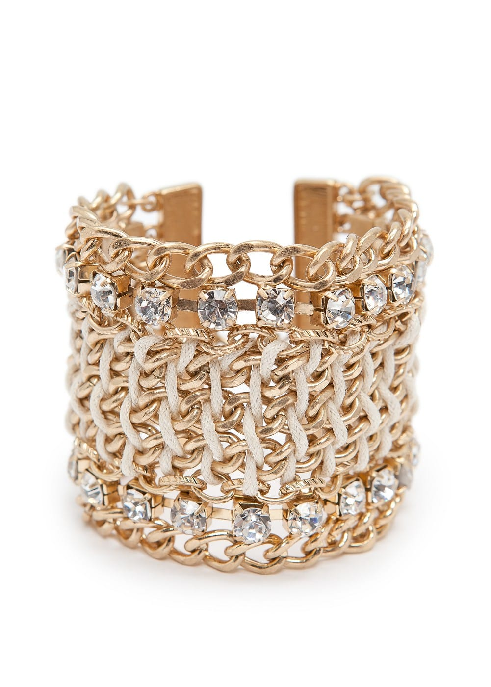 Chain cuff with crystals | MANGO