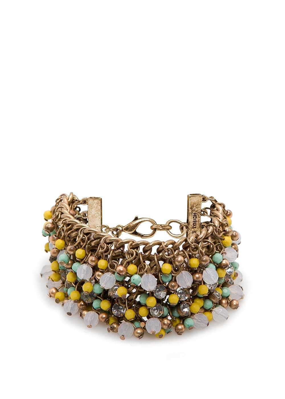 Beaded chains bracelet | MANGO