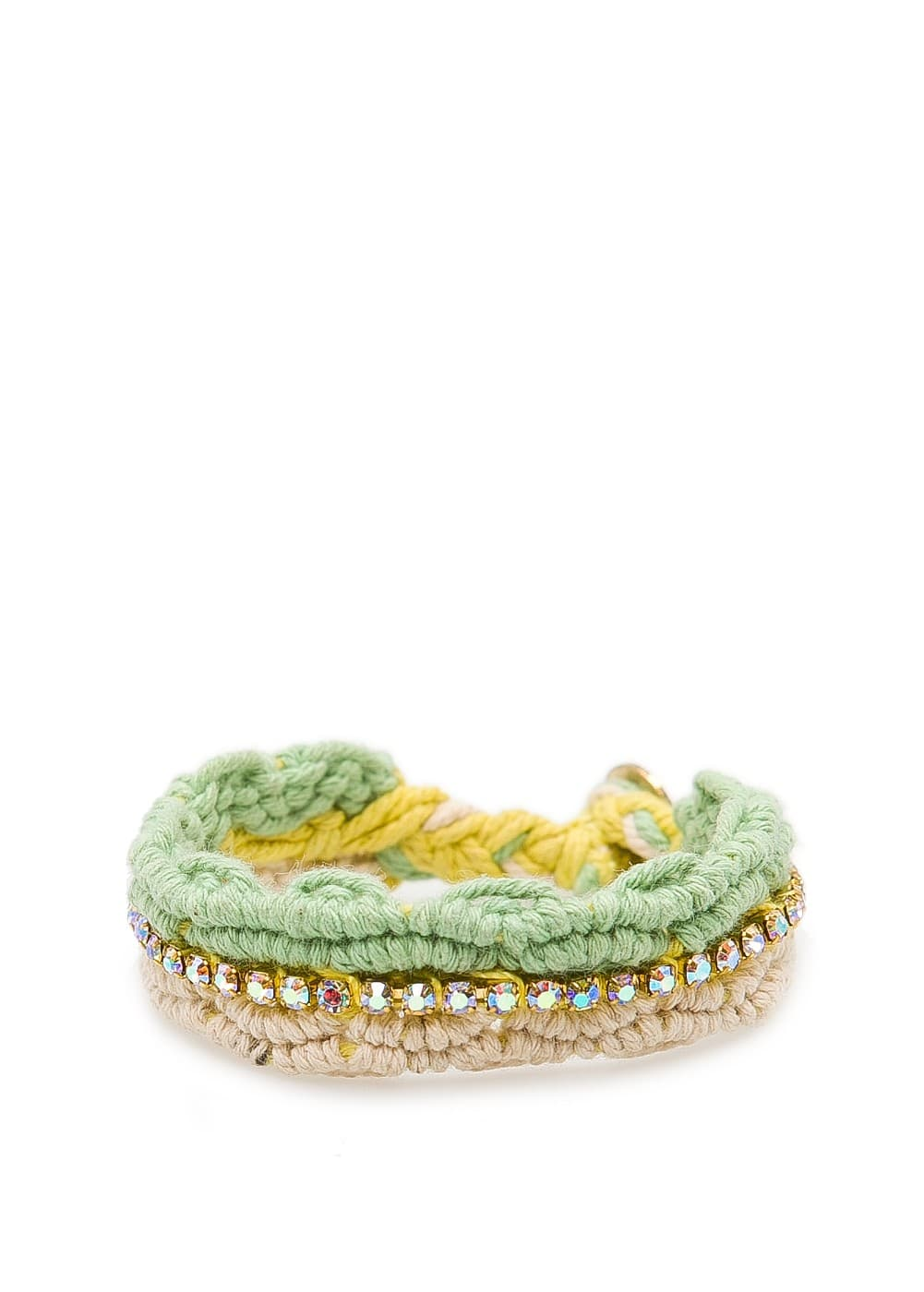 Crystal friendship bracelet | MANGO