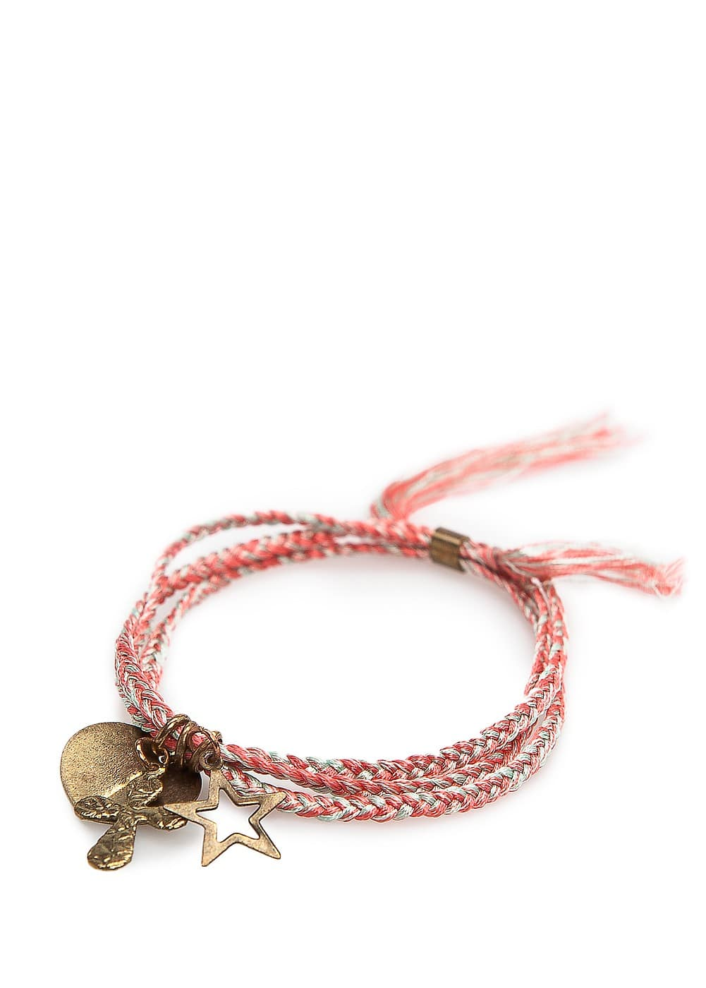 Charms braided bracelet | MANGO