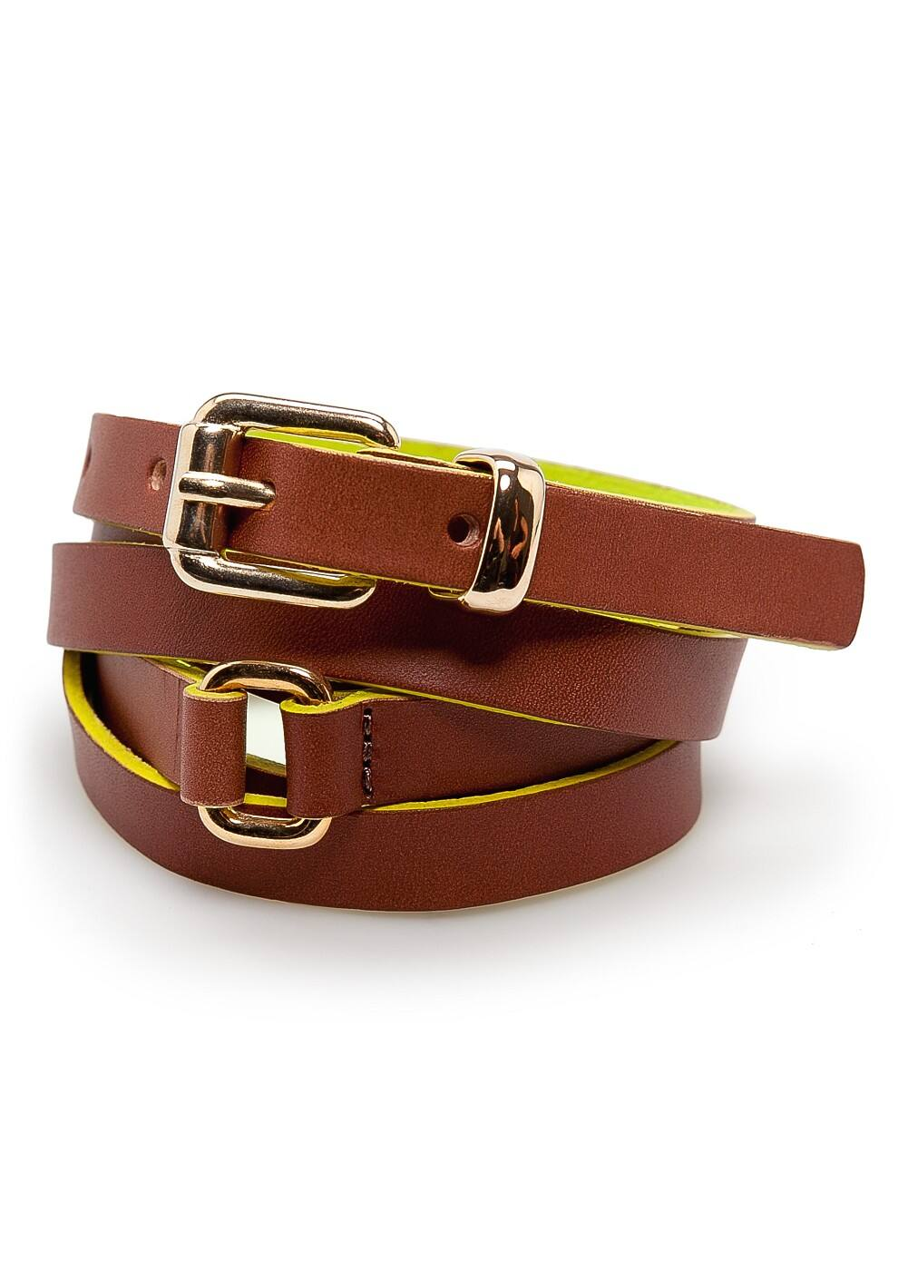 Double wrap leather belt | MANGO
