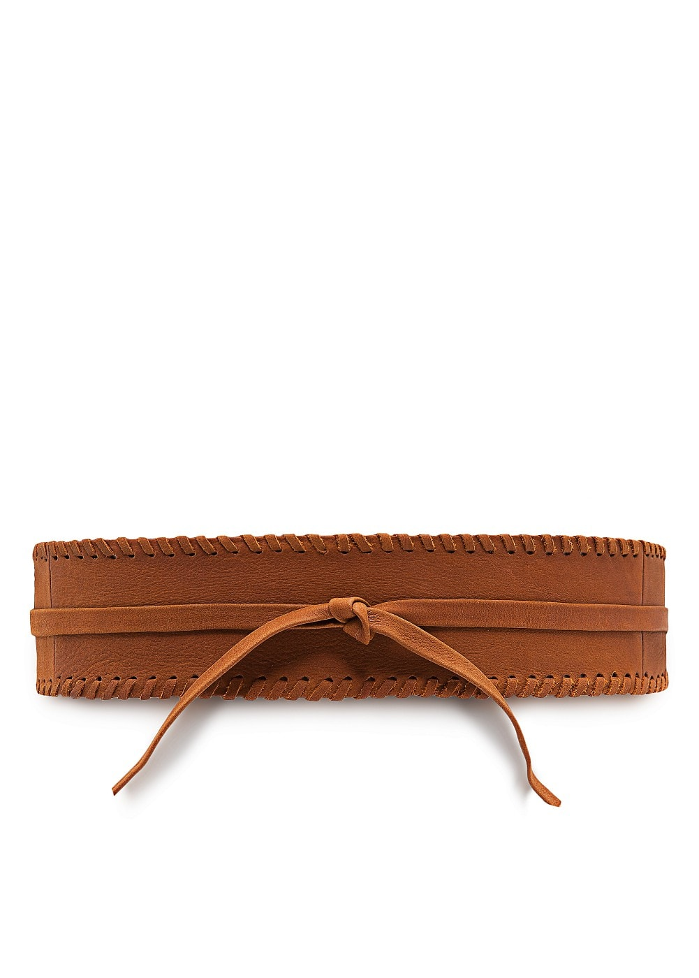 Leather braided sash belt | MANGO