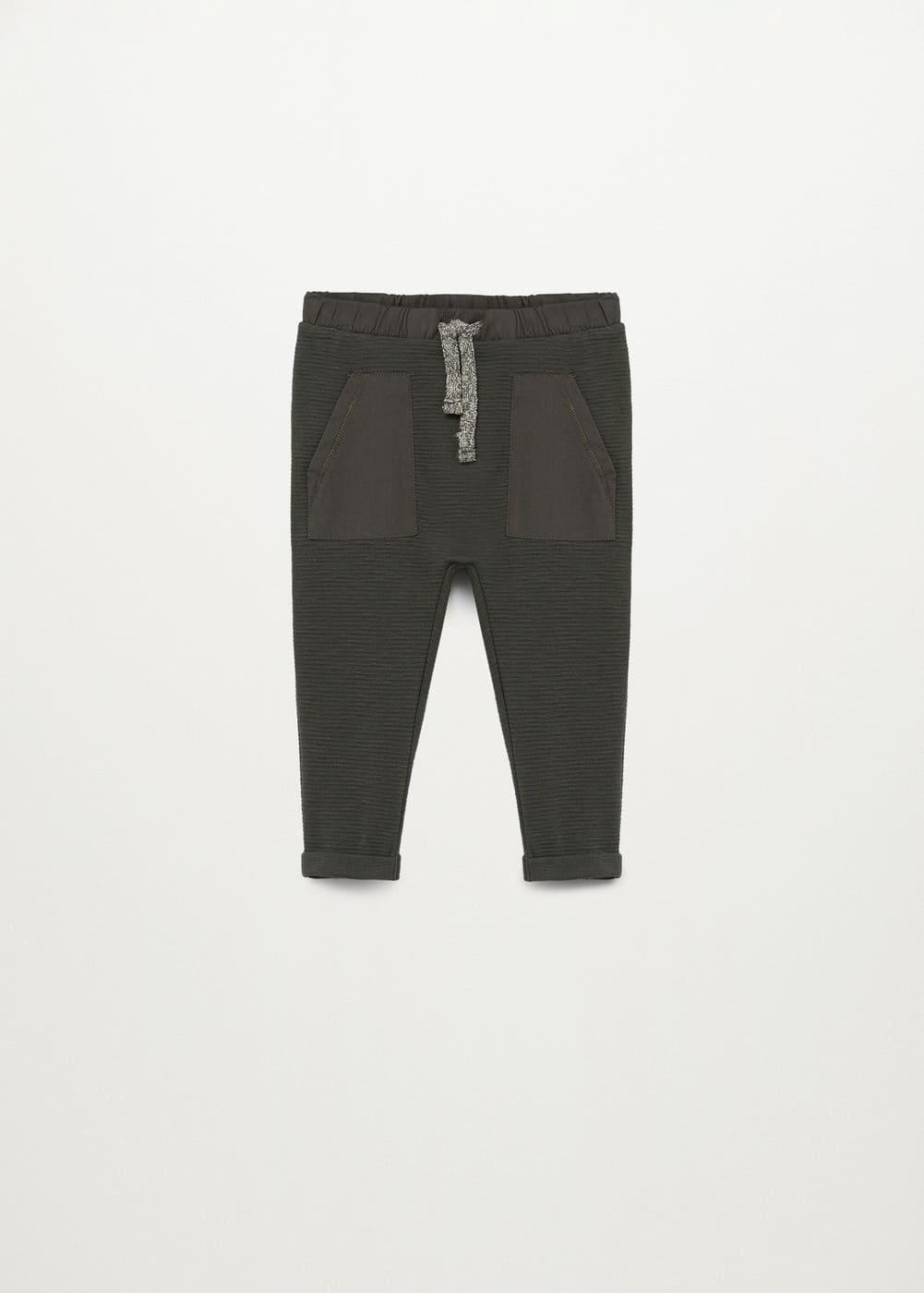 cotton jogger trousers