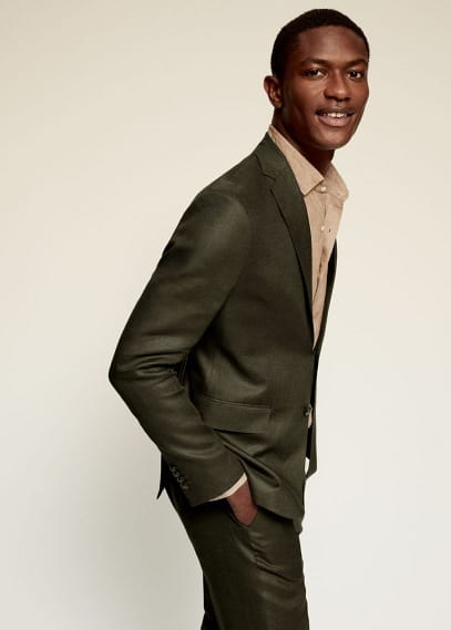 Пиджак Mango (Манго) Костюмный пиджак slim fit изо льна - Florida-i