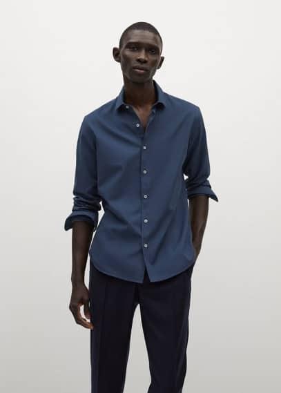 Рубашка Mango (Манго) Рубашка slim fit из хлопка - Alfred