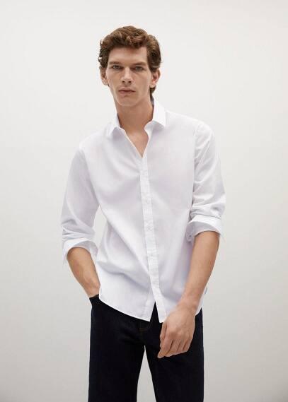 Рубашка Mango (Манго) Рубашка slim fit из хлопка - Play