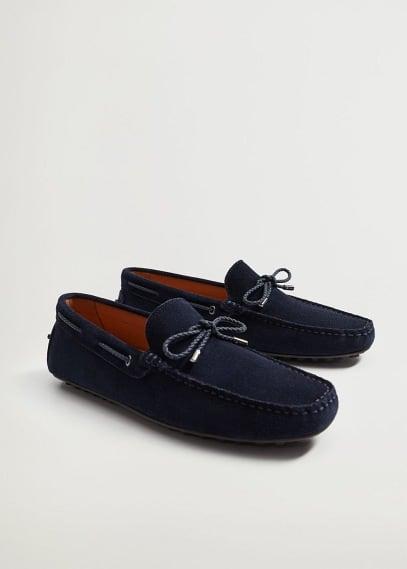 Мужские туфли Mango (Манго) Мокасины из спилка - Kiowa