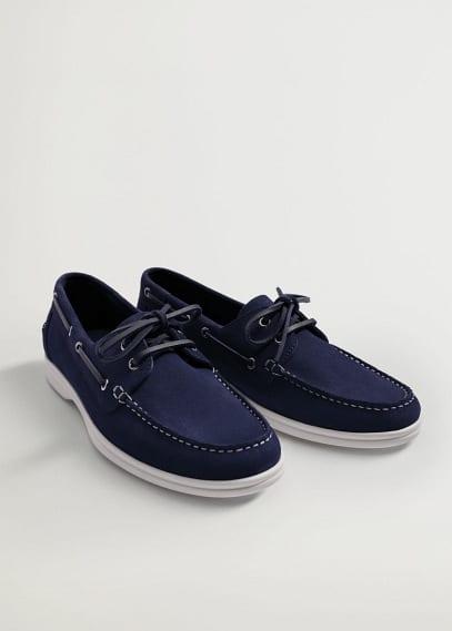Мужские туфли Mango (Манго) Замшевые туфли в морском стиле - Sail