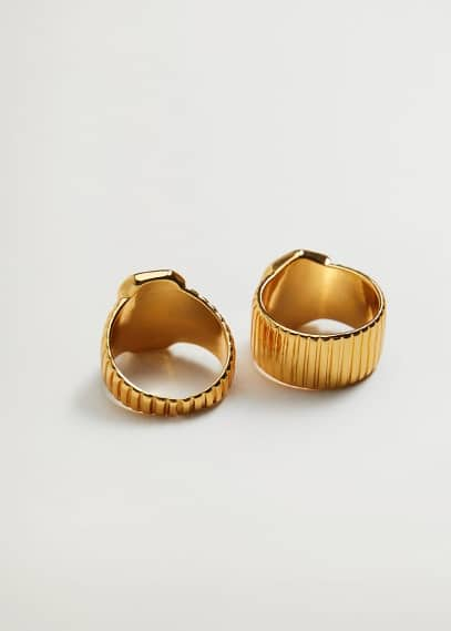 Комплект 2 кольца-печатки - Perdita от Mango