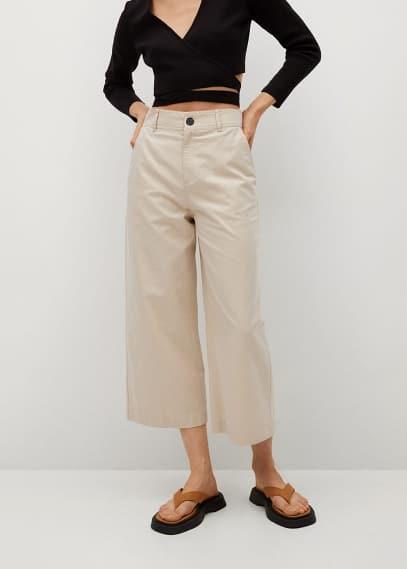 Женские широкие и расклешенные брюки Mango (Манго) 87046312