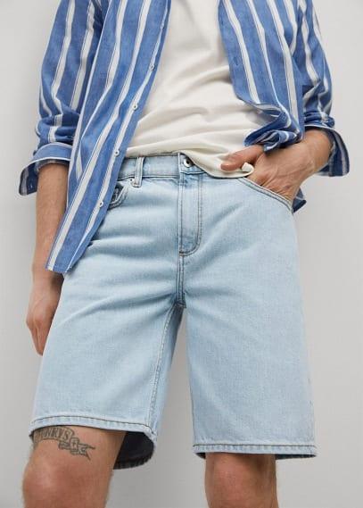 Мужские шорты Mango (Манго) 87047115: изображение 3