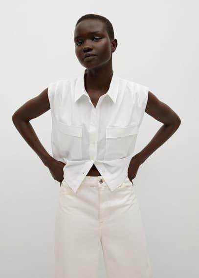 Рубашка с коротким рукавом Mango (Манго) 87048633