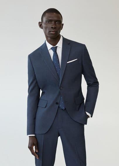 Пиджак Mango (Манго) Пиджак slim fit с мелкой фактурной выделкой - Brasilia