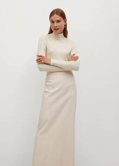 Юбка Mango (Манго) Длинная расклешенная юбка - Cofi7-a