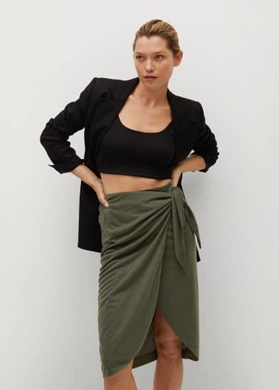 Узкая юбка Mango (Манго) 87087155
