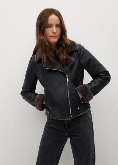 Кожаная куртка Mango (Манго) 87090562: изображение 5